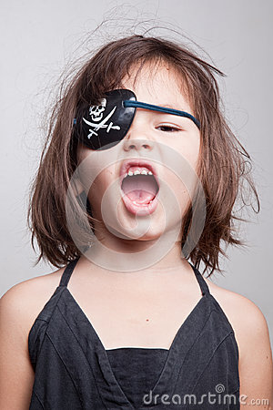 Free Portrait Of Beautiful Asian Girl Little Pirate Girl Stock Photos - 98340813