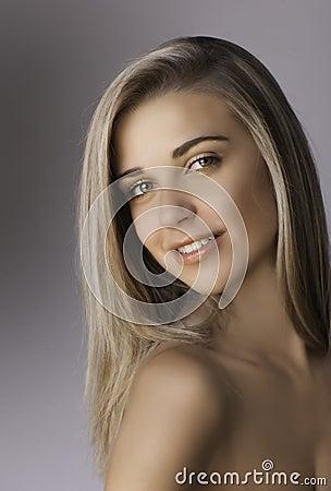 Free Portrait Of Beautiful Smiling Blonde Woman Stock Image - 34306261