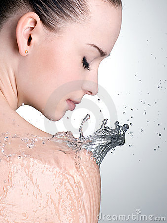 Free Portrait Of Beautiful Woman With Water On Body Stock Photos - 21172593