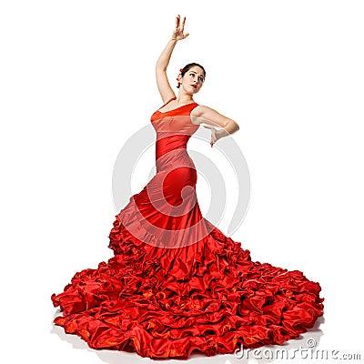 Free Portrait Of  Beautiful Young Woman Dancing Flamenco Stock Photography - 28460932