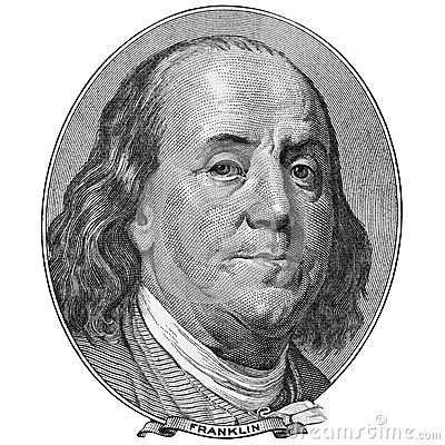Free Portrait Of Benjamin Franklin Stock Photography - 48280122