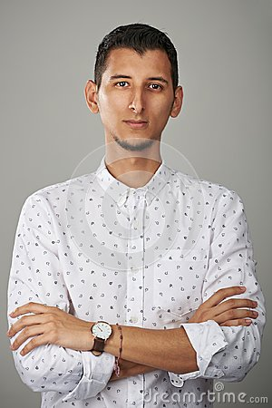 Free Portrait Of Confident Young Man Royalty Free Stock Image - 100617826