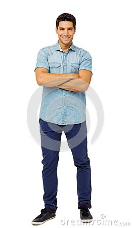 Free Portrait Of Confident Young Man Standing Arms Crossed Stock Photos - 39365973