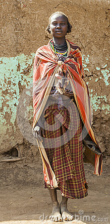 Free Portrait Of Dassanech Girl. Omorato, Ethiopia. Royalty Free Stock Images - 51534539