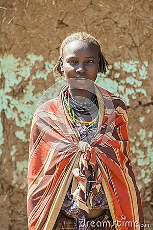 Free Portrait Of Dassanech Girl. Omorato, Ethiopia. Royalty Free Stock Photo - 51534695