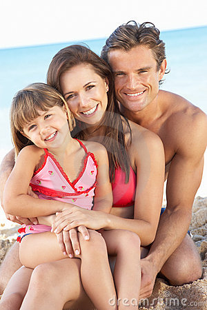 Free Portrait Of Family On Summer Beach Holiday Stock Photo - 16615700