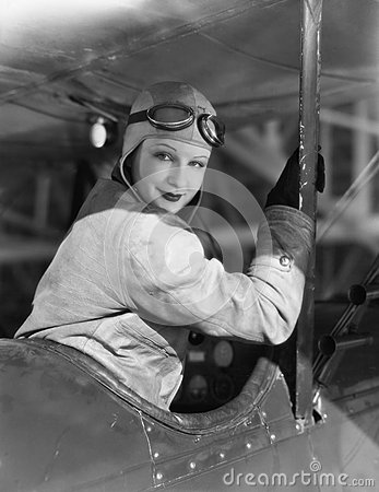 Free Portrait Of Female Pilot Royalty Free Stock Photo - 52006645