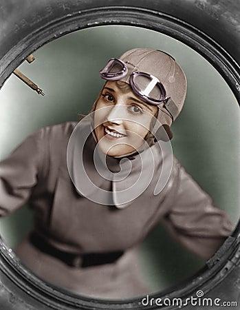 Free Portrait Of Female Pilot Stock Images - 52008364