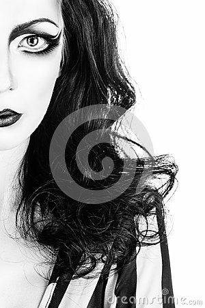 Free Portrait Of Girl In High Key Stock Photos - 48192803