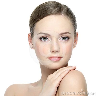 Free Portrait Of Girl With Clean Skin Royalty Free Stock Images - 24373309