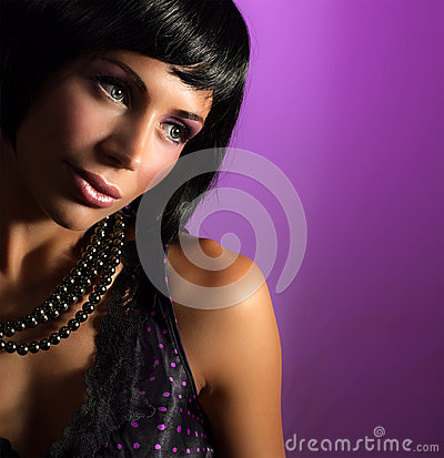 Free Portrait Of Glamorous Girl Royalty Free Stock Photo - 27580705