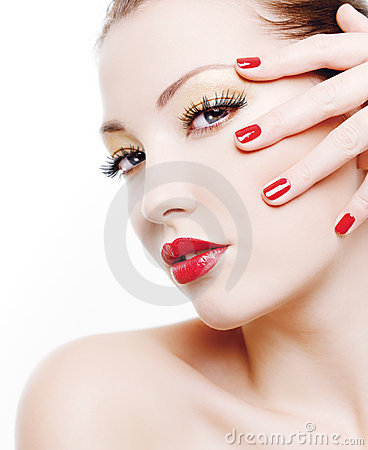 Free Portrait Of Glamour Woman Royalty Free Stock Image - 12199226