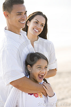 Free Portrait Of Happy Hispanic Family With Young Girl Stock Photography - 14770002