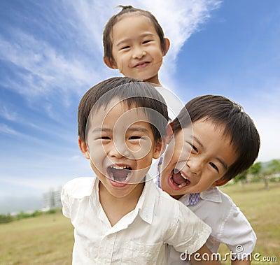Free Portrait Of Happy Kids Stock Image - 19488471