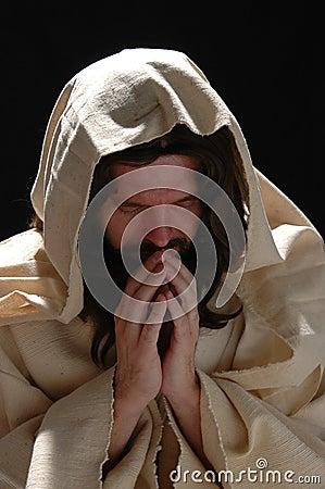 Free Portrait Of Jesus In Prayer Stock Photography - 1894702