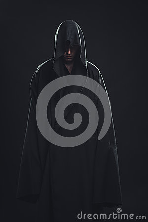 Free Portrait Of Man In A Black Robe Stock Photography - 34030142
