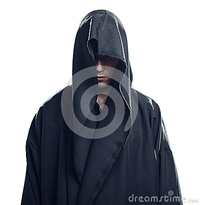 Free Portrait Of Man In A Black Robe Royalty Free Stock Photography - 34362647