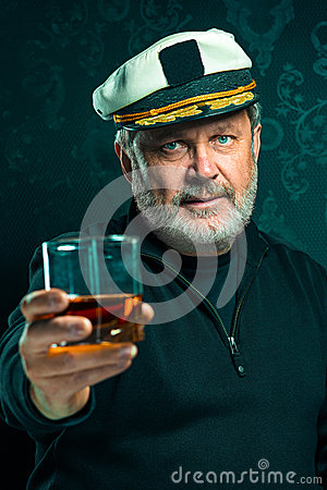 Free Portrait Of Old Captain Or Sailor Man In Black Sweater Royalty Free Stock Photo - 83213585
