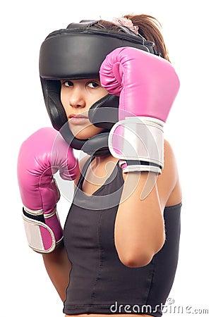 Free Portrait Of Pretty Kick Boxing Girl Royalty Free Stock Photo - 22369345