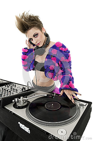 Free Portrait Of Punk DJ Over White Background Stock Photography - 29674392