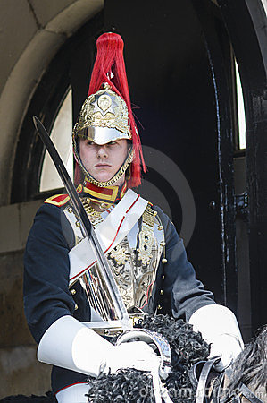 Free Portrait Of Royal Horse Guards In Typical Uniform Stock Image - 24220851