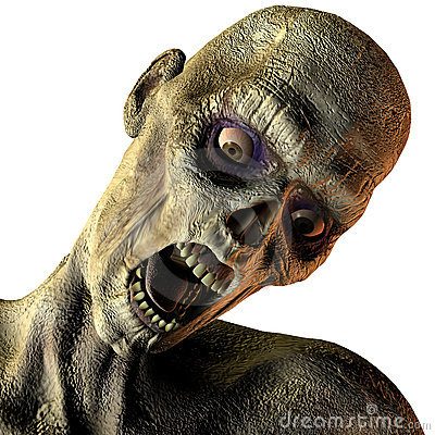 Free Portrait Of Screaming Undead Stock Images - 15544474