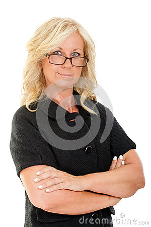 Free Portrait Of Serious Middle Aged Woman In Business Attire Stock Photography - 32607152