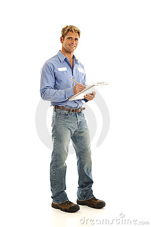 Free Portrait Of Service Worker Royalty Free Stock Photography - 17780587