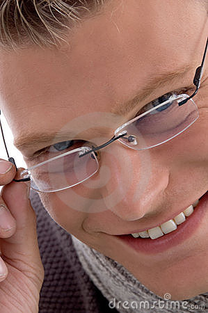 Free Portrait Of Smiling Young Male Wearing Eyewear Stock Photos - 7058203