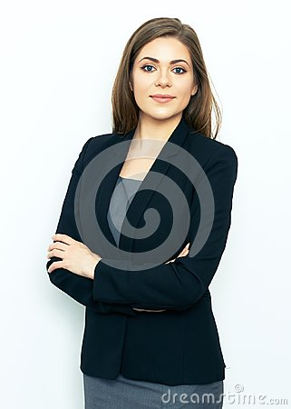 Free Portrait Of Successful Business Woman On White Background. Stock Image - 109290811