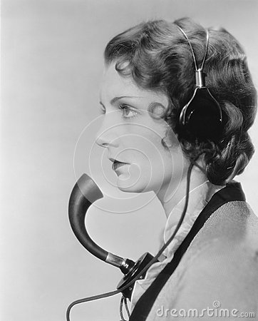 Free Portrait Of Telephone Operator Royalty Free Stock Images - 52005569