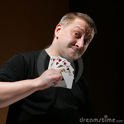 Free Portrait Of The Man With Royal Flush Royalty Free Stock Photos - 3631848