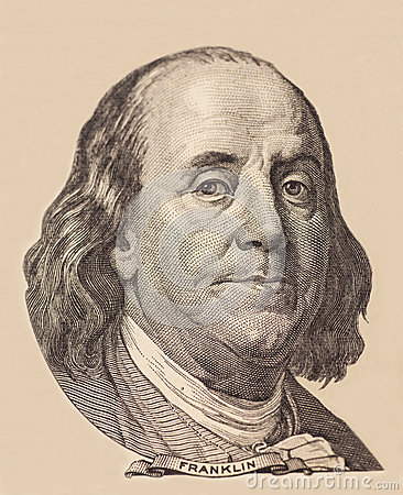 Free Portrait Of U.S. President Benjamin Franklin Royalty Free Stock Images - 56407659
