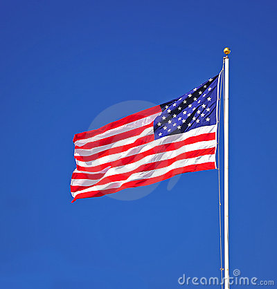 Free Portrait Of US Flag Stock Images - 20999224