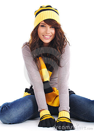 Free Portrait Of Winter Girl Stock Photography - 6735092