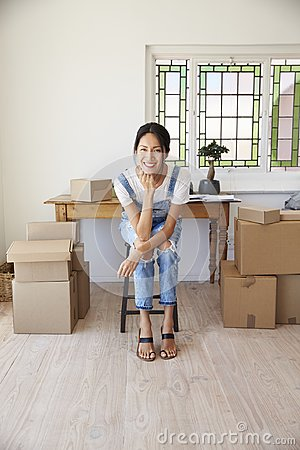 Free Portrait Of Woman In Bedroom Running Business From Home Stock Photos - 99963603
