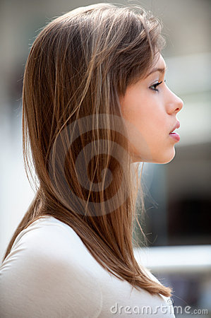 Free Portrait Of Woman In Profile Stock Image - 14560341