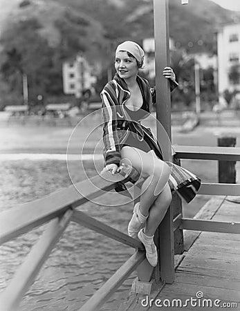 Free Portrait Of Woman Near Water Stock Photo - 52004920