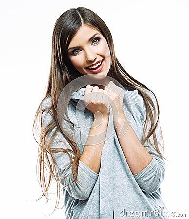 Free Portrait Of Yong Woman Casual Portrait, Smile, Beautiful Model Stock Photos - 41960053