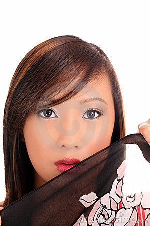 Free Portrait Of Young Asian Teen Woman With Cloth Royalty Free Stock Image - 14458616