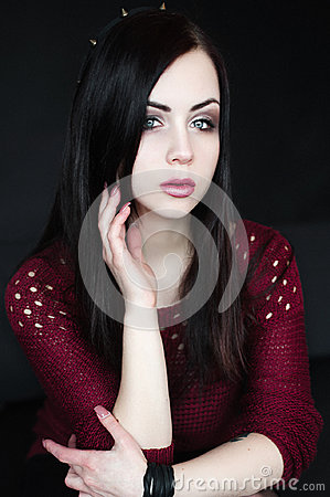 Free Portrait Of Young Brunnete Woman Stock Images - 95608994