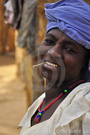 Portrait of old african  women in village Editorial Stock Photo