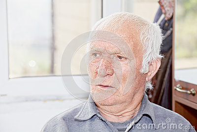 Portrait of old hoary man