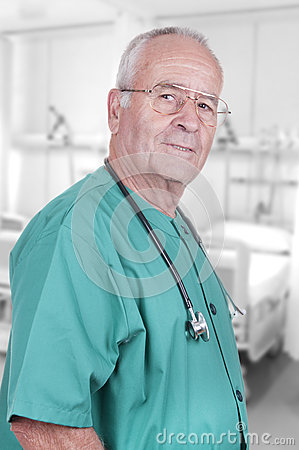Portrait of an Old Male Doctor