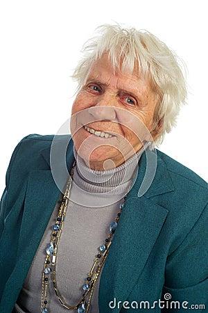 Portrait old woman