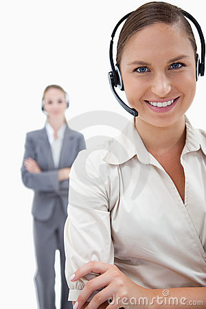 Portrait of operators with headsets