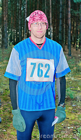 Portrait of the participant of sport orienteering