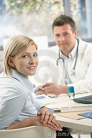 Portrait of patient at doctor
