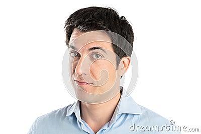 Portrait Of Pensive Man
