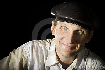 Portrait of the person in a cap